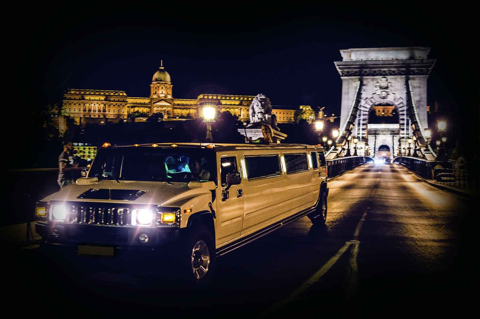 Limousine sightseeing tour with lady escort Budapest Stag Do