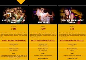 Compare the stag do packages
